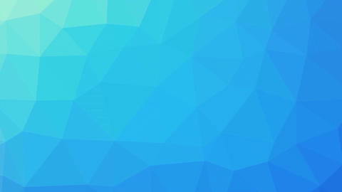 Turquoise gradient polygon shaped background zoom Animation