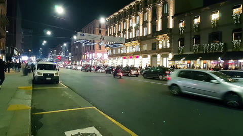 Corso Buenos Aires at night - Milan/Italy - Christmas 2016 - Hyperlapse Footage