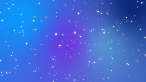 Sparkly white light particles moving across a blue purple gradient background Animation