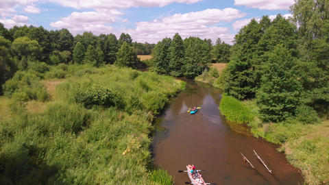 Isloch famous place for kayaking in Belarus Live Action