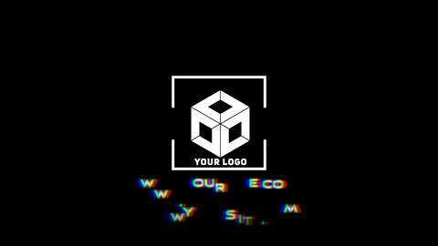 Dynamic minimal logo Apple Motion Template