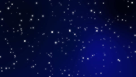 Sparkly white light particles moving across a black blue gradient background Animation