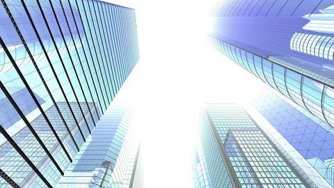 Skyscraper 2 Fb2 white 4k Animation