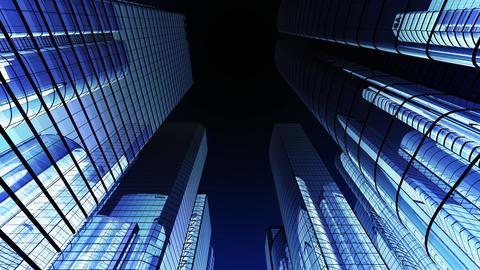 Skyscraper 2 Fg1 dark 4k Animation