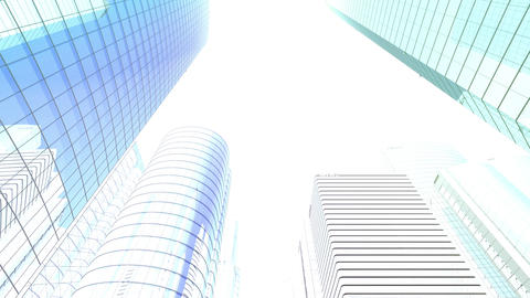 Skyscraper 2 Gg1 white 4k Animation