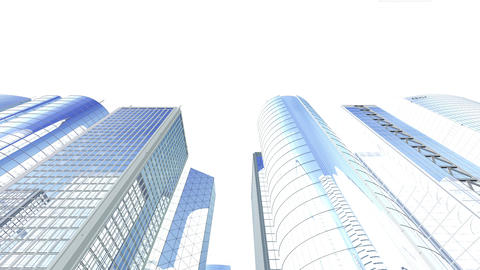 Skyscraper 2 Jb1 white 4k Animation