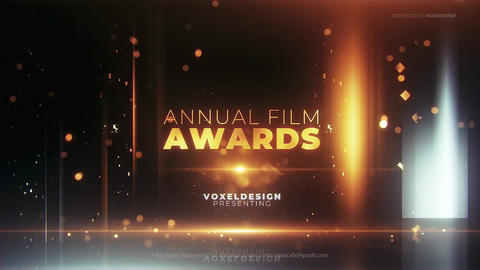 Annual Awards Titles After Effects Template