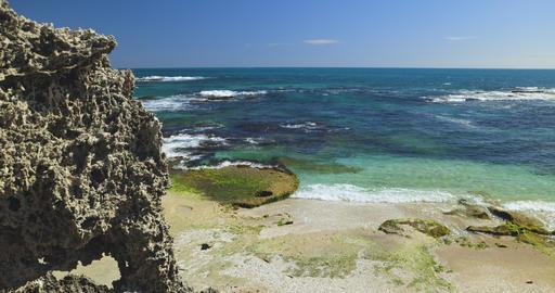 Penguin island beaches, Near Perth. Western Australia Tourism Scenery Live Action