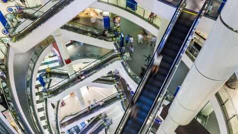 4K - Shopping Mall Timelapse Stock Video Footage