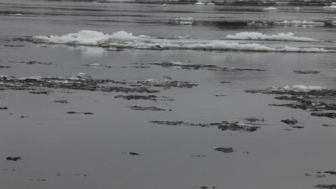 ice flow on river Stock Video Footage