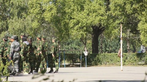 Students Military Marching Stock Video Footage