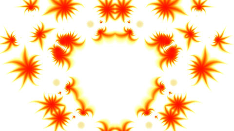 Orange patterns on a white background Stock Video Footage
