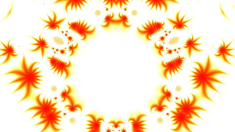 Orange patterns on a white background Animation