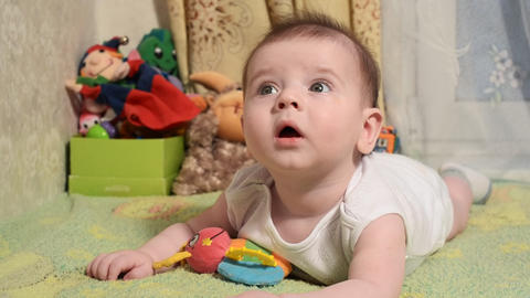 child boy baby play and cheerful Footage