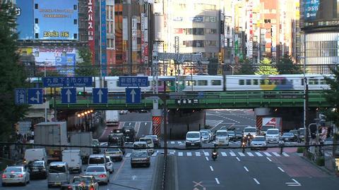 Shinjuku crossroad day 02 sound Stock Video Footage