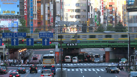 Shinjuku crossroad day 04 sound Stock Video Footage