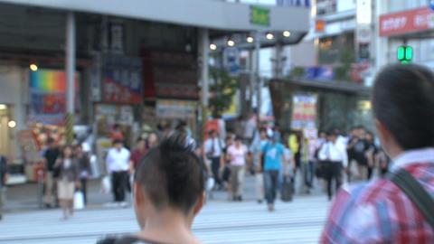 Shinjuku crossroad people day 01 Stock Video Footage