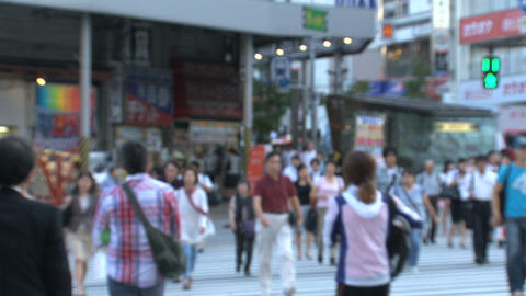 Shinjuku crossroad people day 01 Footage