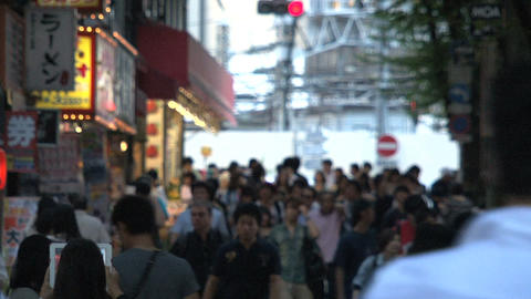 Shinjuku crossroad people day 03 Stock Video Footage
