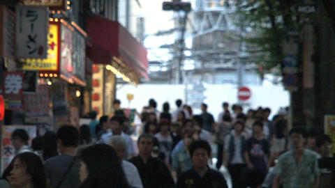 Shinjuku crossroad people day 03 Stock Video Footage
