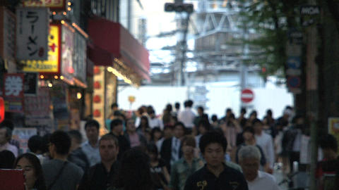 Shinjuku crossroad people day 03 Footage