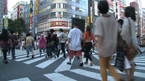 Shinjuku crossroad people day 05 Footage
