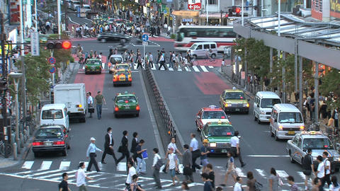 Shinjuku crossroad people day 07 Stock Video Footage