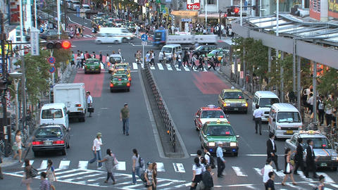 Shinjuku crossroad people day 07 Footage