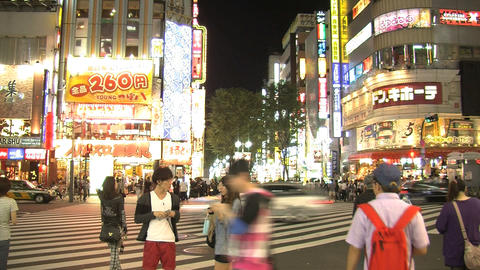 shinjuku people night Footage
