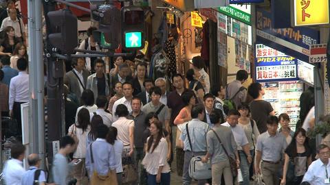 Shinjuku people end day 01 Stock Video Footage