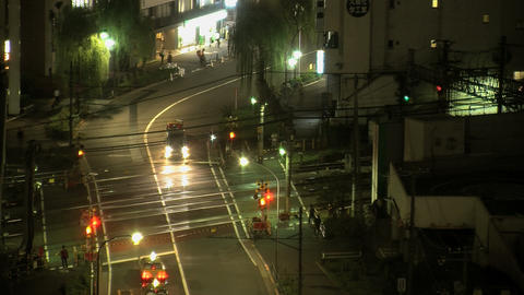 shinjuku traffic night 2 Stock Video Footage
