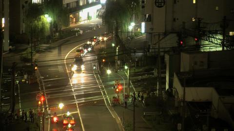 shinjuku traffic night 2 Stock Video Footage