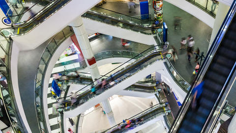 1080p - PEOPLE SHOPPING MALL TIME-LAPSE Stock Video Footage