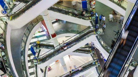 1080p - PEOPLE SHOPPING MALL TIME-LAPSE Footage