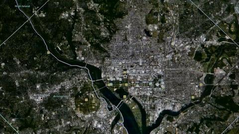 touch globe map on ipad,from Washington to Korea Stock Video Footage