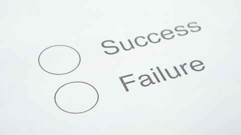 Success or Failure Stock Video Footage