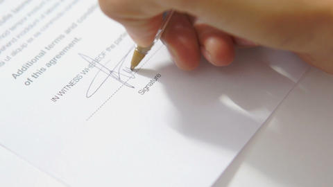 Signing an Agreement Footage