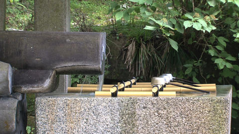 Holy Water shrine Nikko Stock Video Footage