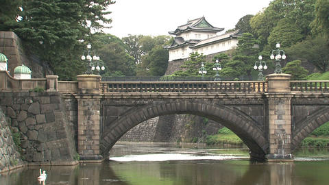 Imperial palace tokyo Stock Video Footage