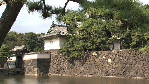 Imperial palace tokyo stil Stock Video Footage