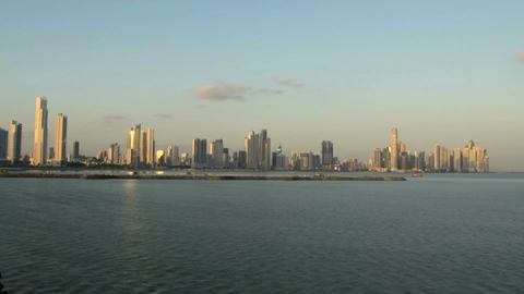 Panama city skyline time lapse Stock Video Footage