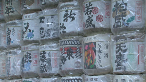 Sake barrels at Toshogu shrine Nikko 02 영상물