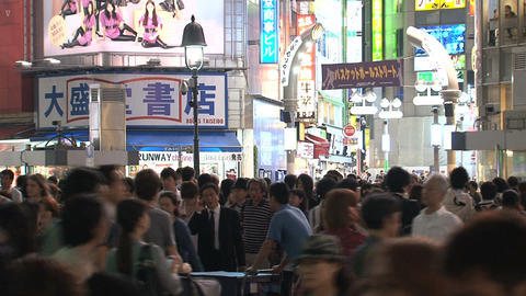 Shinjuku crossroad end day 04 Stock Video Footage
