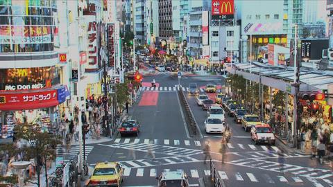 Shinjuku traffic timelapse Stock Video Footage