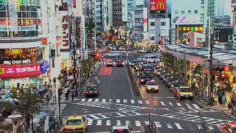 Shinjuku traffic timelapse Stock Video Footage
