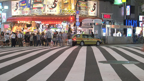 Shinjuku traffic timelapse Footage