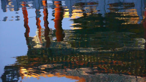 China Beijing ancient Chinese architecture pavilions reflection in pool water Footage