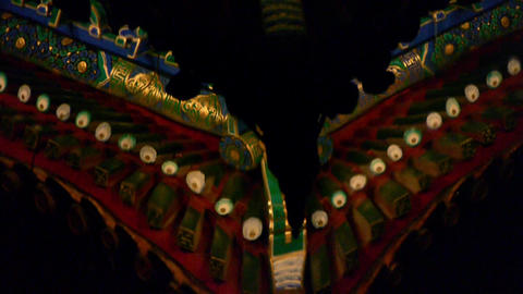 China Beijing ancient architecture pavilions reflection... Stock Video Footage