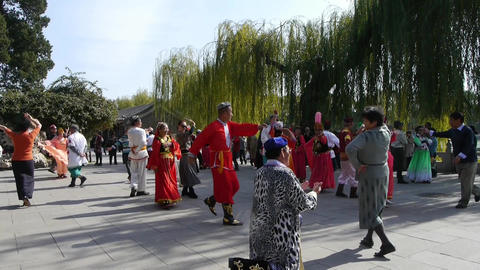 uyghur dancer under sun Footage