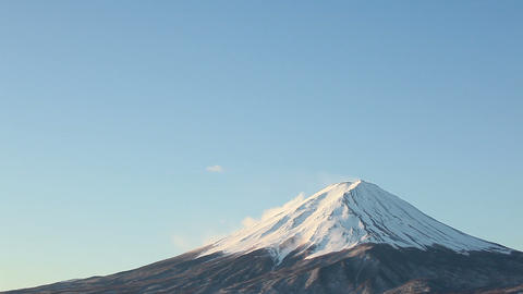close up of Mt.Fuji Stock Video Footage